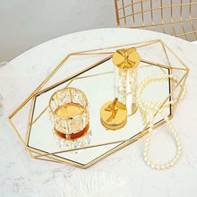 Load image into Gallery viewer, mirrored gold / rose gold vanity tray