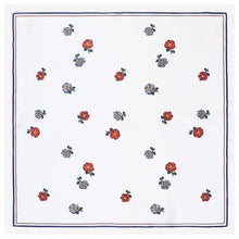 Load image into Gallery viewer, silky folk art square scarf