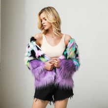Load image into Gallery viewer, garden pixie faux fur coat
