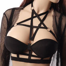 Load image into Gallery viewer, pentagram body cage bustier