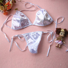 Load image into Gallery viewer, simple satin bralet & thong lingerie set