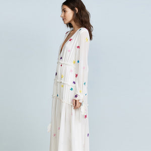 stellar long sleeve maxi dress
