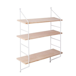 pink / blue / black / white three tier shelf