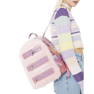cotton candy obsessed backpack
