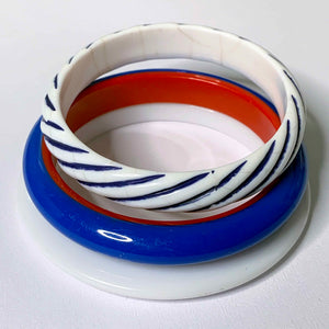 red, white & blue mod bangle set