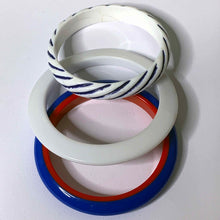 Load image into Gallery viewer, red, white & blue mod bangle set