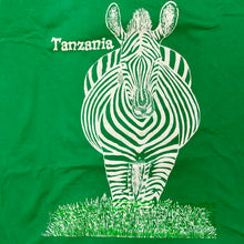 Load image into Gallery viewer, vintage 90s green tanzania zebra t shirt