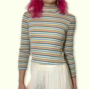 vintage 90s STAR CODY striped turtleneck