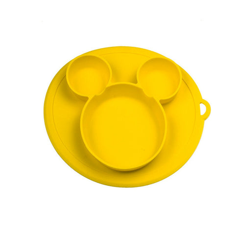 Image of Baby silicone plate Kids Bowl Plates baby feeding silicone bowl baby silica gel dishes kids tableware