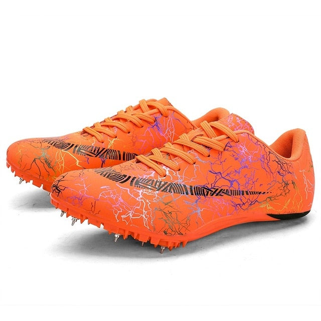 Spike Shoes Track and Field Men Women Training Athletic Shoes Professional Running Track Race Jumping Soft Shoes Sneakers 35-45
