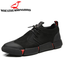 Load image into Gallery viewer, NEW Brand High quality all Black Men's leather casual shoes Fashion Breathable Sneakers fashion flats  big plus size 45 46 LG-11