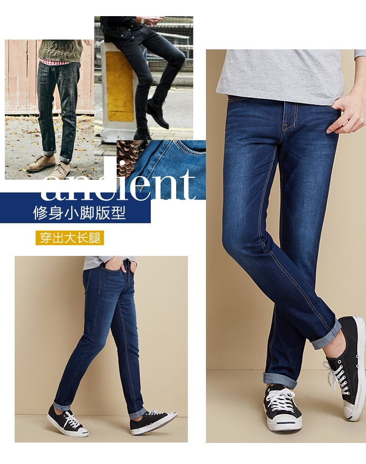 SEMIR jeans for men slim fit pants classic 2019 jeans male denim jeans Designer Trousers Casual skinny Straight Elasticity pants