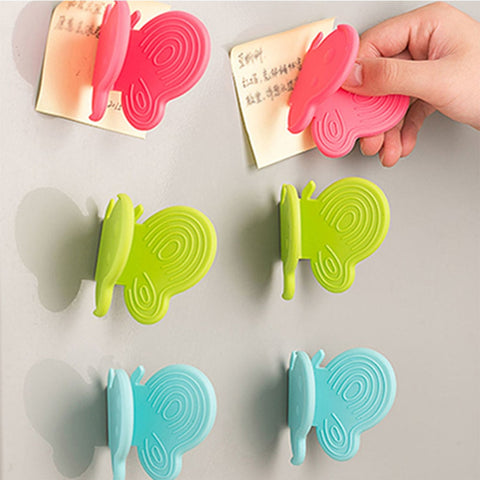 Image of 1pc Adorable Butterfly-Shaped Silicone Anti-Scald Device With Magnets Kitchen Tool Gadget Random Colors