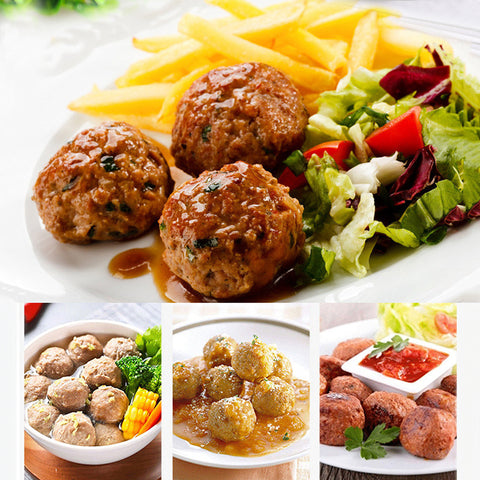 Image of Convenient Meatball Maker Stainless Steel DIY Fish Stuffed Meat Ball Machine Meat Cooking Kitchen Mold Tools