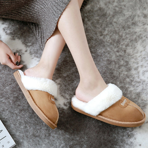 Women House Slippers Plush Winter Warm Shoes Woman Comfort Coral Fleece Memory Foam Slippers House Shoes for Indoor Outdoor Use