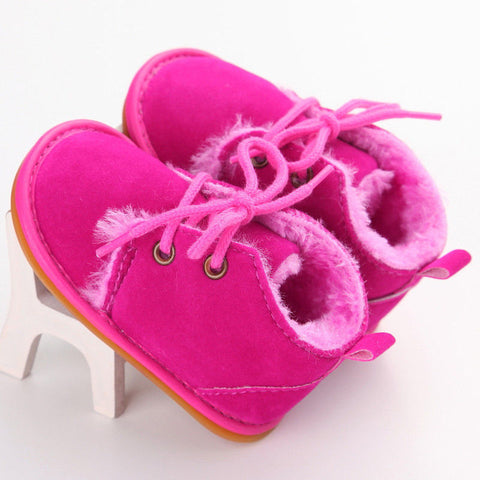 Image of Newborn Baby Winter Boots Infant Girls Boys Baby Snow Booties Toddler Fur Warm Boots arrival Style Little Kids Strappy Shoes