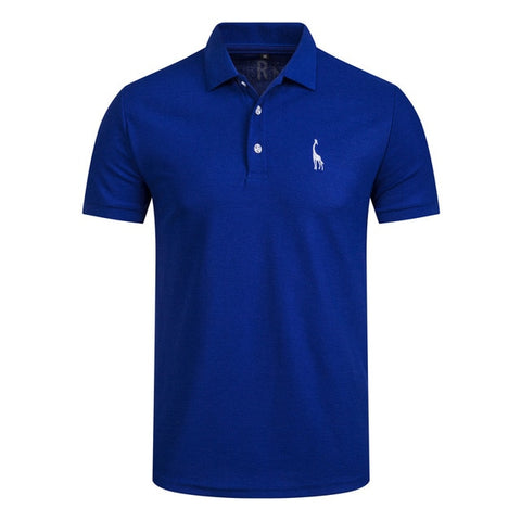 Image of NEGIZBER New Man Polo Shirt Mens Casual Deer Embroidery Cotton Polo shirt Men Short Sleeve High Quantity polo men