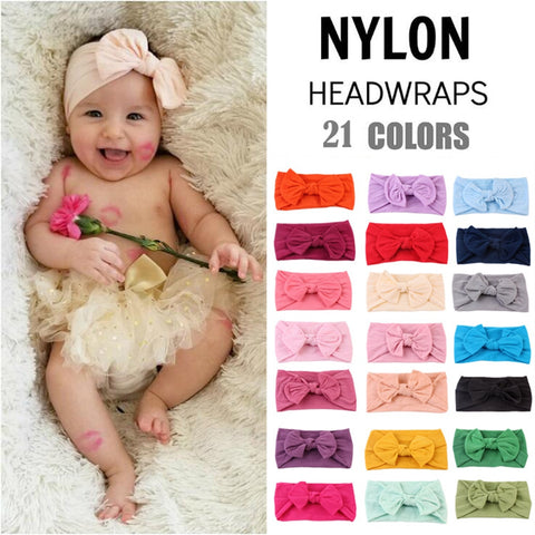 Image of 21 Colors Baby Headband Turban Knotted Baby Girl Hair Accessories for Newborn Toddler Children  Baby Turban Dropshipping