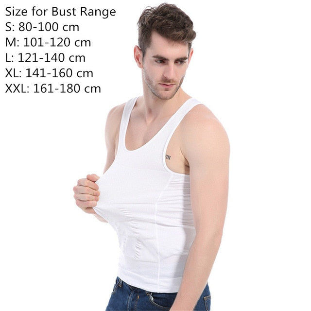 2019 Men Slimming Body Shaper Tummy Shapewear Fat Burning Vest Modeling Underwear Corset Waist Trainer Muscle Girdle Shirt