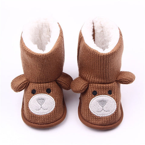 Image of Baby Winter Boots Infant Toddler Newborn Cute Cartoon Bear Shoes Girls Boys First Walkers Super Keep Warm Snowfield Booties Boot
