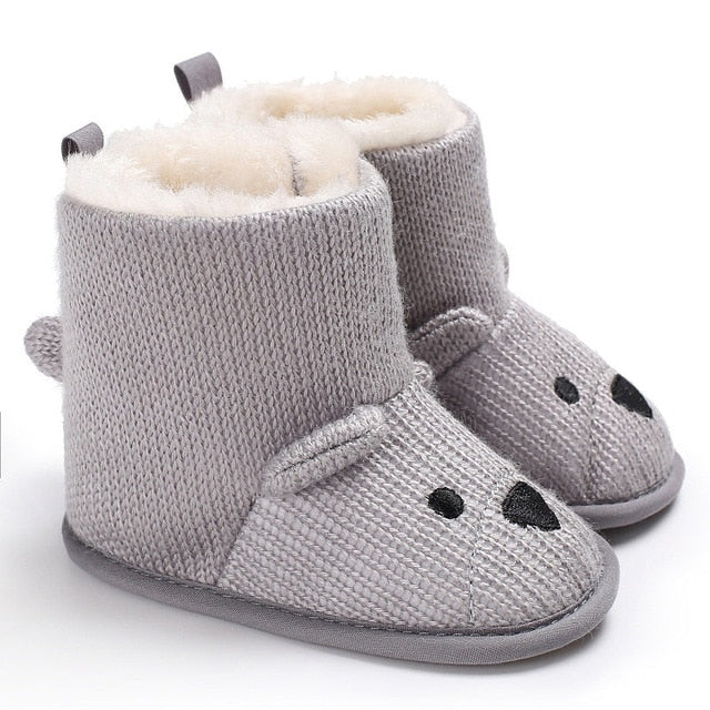 Baby Winter Boots Infant Toddler Newborn Cute Cartoon Bear Shoes Girls Boys First Walkers Super Keep Warm Snowfield Booties Boot