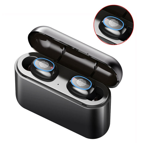 Image of True Wireless Earbuds Bluetooth Earphone Handfree Earphones TWS Wireless Headphones 5.0 Music Bloototh Sports Headphone With Mic
