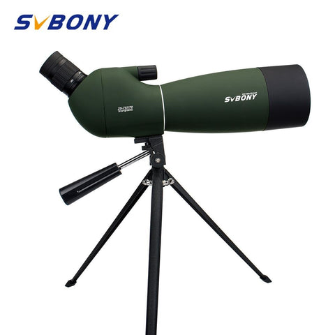 Image of SVBONY SV28 50/60/70mm 3 Types Spotting Scope Waterproof Zoom Telescope +Tripod Soft Case for Birdwatching Target Archery F9308Z