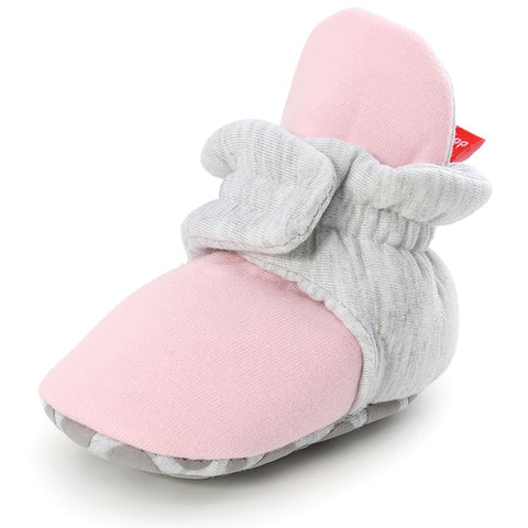 Image of Newborn Baby Socks Shoes Boy Girl Star Toddler First Walkers Booties Cotton Comfort Soft Anti-slip Warm Infant Crib Shoes