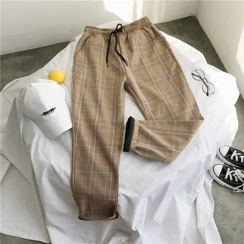 Image of Privathinker Harajuku Plaid Pants For Women Trousers 2019 Streetwear Woman Harem Pants Autumn Ladies Causal Pants Plus Size