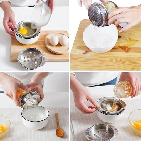 Image of 1pc Stainless Steel Food Can Strainer Sieve Tuna Press Lid Oil Drainer Remover Can Water Kichen Tool Gadgets
