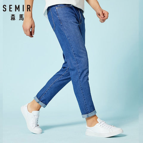 Image of SEMIR jeans for men slim fit pants classic 2019 jeans male denim jeans Designer Trousers Casual skinny Straight Elasticity pants