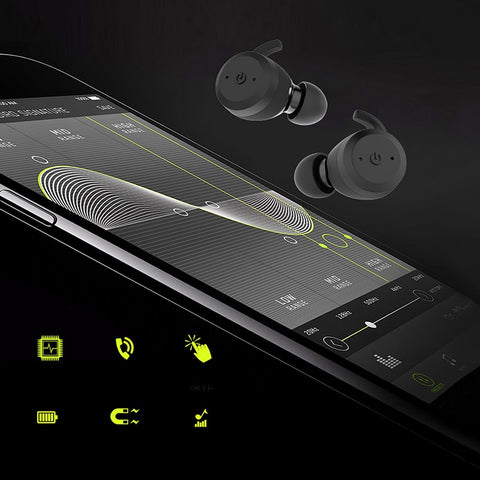 BE1018 Bluetooth 5.0 Wireless Bluetooth Headphones Bass Hifi Stereo In-Ear Earphone Wireless Earbud Sport Noise Cancelling Hea
