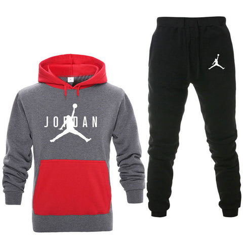 New Men Hoodies Suit Fleece Warm Jordan 23 Tracksuit Men Sweatshirt Suit Hoodie+Sweat pants Jogging Homme Hooded Tracksuit 3XL