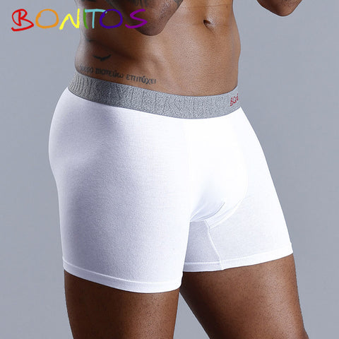 Image of Men Boxer Men Underwear Men Mens Underwear Boxers Boxer Shorts Boxershort Long Natural Cotton High Quality Top Brand 2019