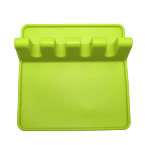 Image of Kitchen Utensil Holder Silicone Spoon Spatula Rack Shelf Portable Multipurpose Stand