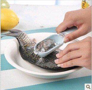Image of Kitchen Tool practical Fast cleaning Fish Skin Scales Peeler shaver fish-scale plane fish scales flake