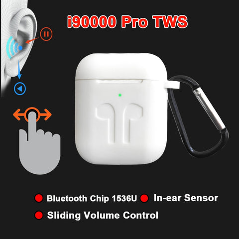 Image of i90000 Pro TWS Arie 2 Wireless Earphone 8D Super Bass Bluetooth 5.0 Earphone Sliding Volume Adjustment Earbuds PK i5000 i9000tws