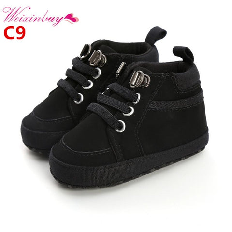 Image of Baby Boy Shoes New Classic Canvas Newborn Baby shoes For Boy Prewalker First Walkers child kids shoes