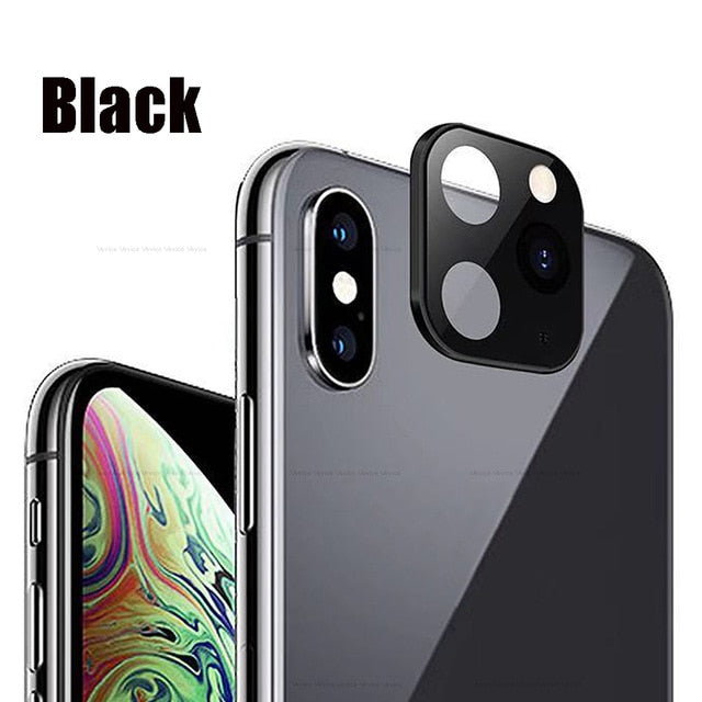 Titanium Alloy Case For iPhone Apple X XS MAX Seconds Change for iPhone 11 PRO MAX Lens Sticker Modified Camera Len Cover Coque