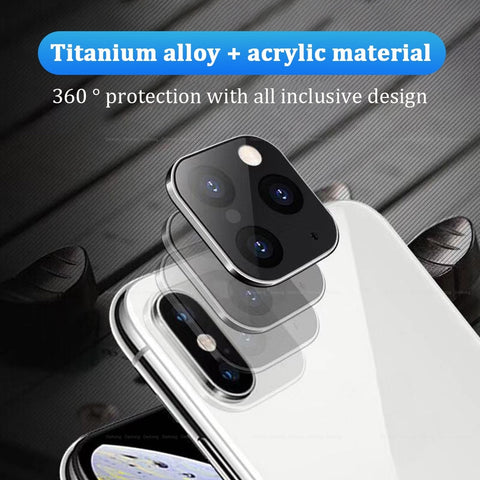 Image of Titanium Alloy Case For iPhone Apple X XS MAX Seconds Change for iPhone 11 PRO MAX Lens Sticker Modified Camera Len Cover Coque