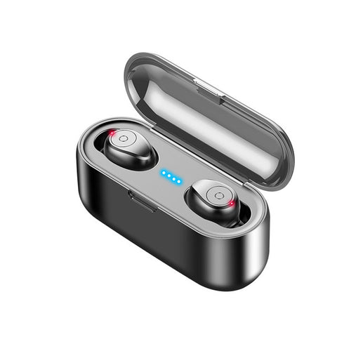 F9 TWS Blutooth Earphone Mini Wireless Earbuds Stereo Headphone Sports Headset audifonos para celular Elari LED Display 8D Bass