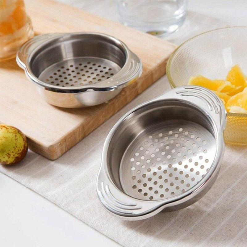 1pc Stainless Steel Food Can Strainer Sieve Tuna Press Lid Oil Drainer Remover Can Water Kichen Tool Gadgets