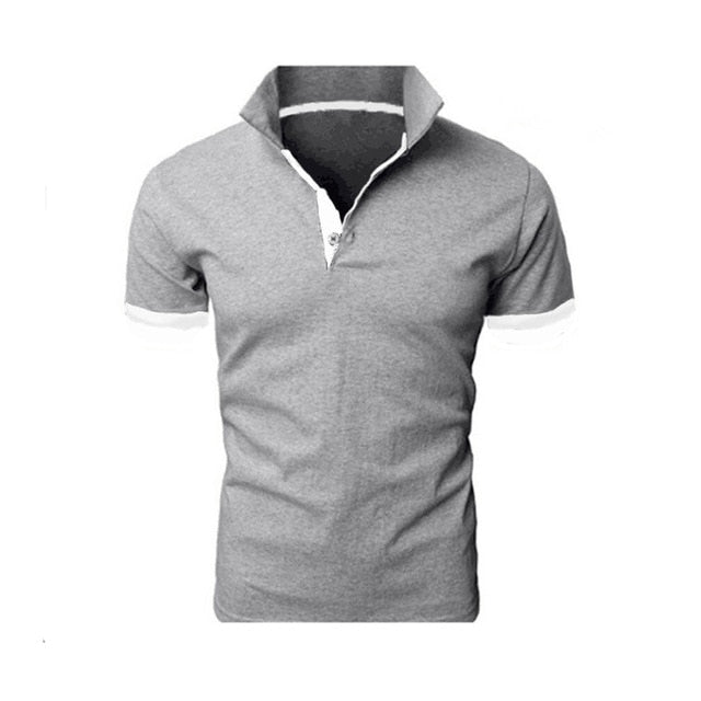 Summer short Sleeve Polo Shirt men Turn-over Collar fashion casual Slim Breathable Solid Color Business polo shirt 2019
