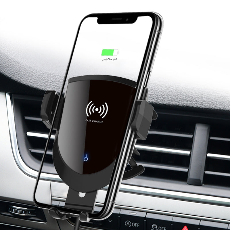 10WQi Fast Charging Coil Induction Wireless Charging in Car holder, Suitable for Samsung S10 S9  car magnetic phone holder char