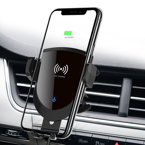 Image of 10WQi Fast Charging Coil Induction Wireless Charging in Car holder, Suitable for Samsung S10 S9  car magnetic phone holder char
