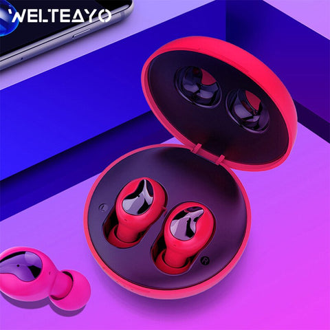 Image of WELTEAYO Xi9 Bluetooth 5.0 Headset Wireless Stereo Headphone TWS Bluetooth Earphone In-Ear Handsfree Earbuds With Mic For Phones