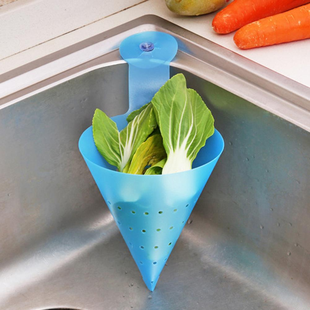 Kichen Filter Self-standing Foldable Sink Waste Drain Basket Funnel Food Waste Strainer Filter Anti-Blocking Device Accessories