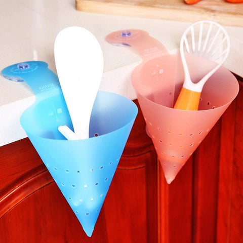 Image of Kichen Filter Self-standing Foldable Sink Waste Drain Basket Funnel Food Waste Strainer Filter Anti-Blocking Device Accessories