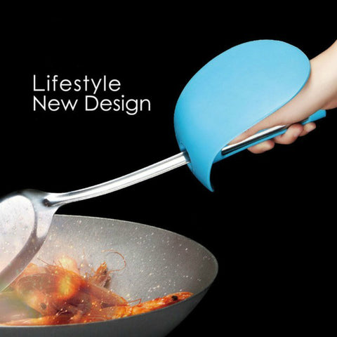 Image of Kichen Oil Splashing Spatula Set Protect Defence Oil Protection Glove Cover Splash Hand Originality Kitchen Tool Silicone Rubber