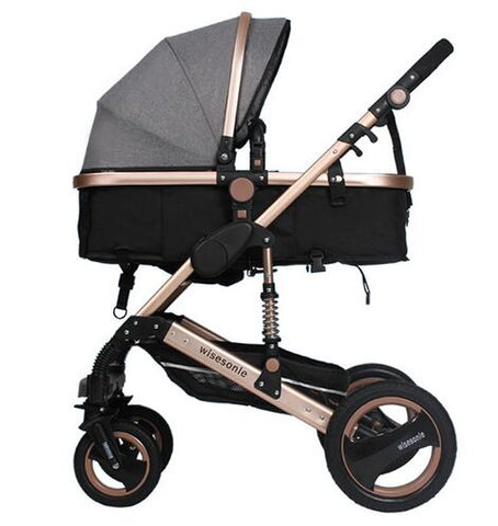 Image of Wisesonle baby stroller 2 in 1 stroller lying or dampening folding light weight two-sided child four seasons Russia free shippin